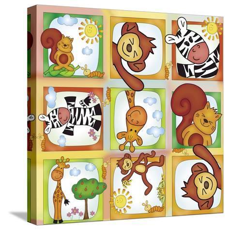 Jungle-Maria Trad-Stretched Canvas Print
