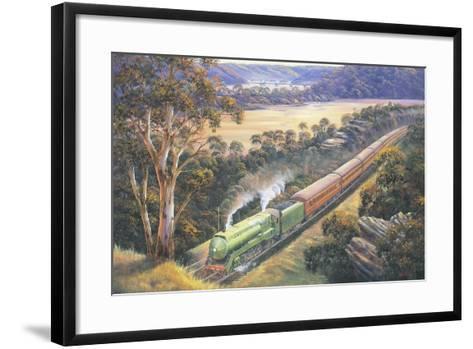 Approaching Cowan Bank-John Bradley-Framed Art Print