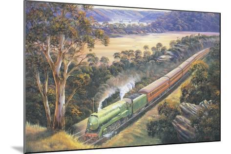Approaching Cowan Bank-John Bradley-Mounted Giclee Print
