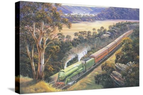 Approaching Cowan Bank-John Bradley-Stretched Canvas Print