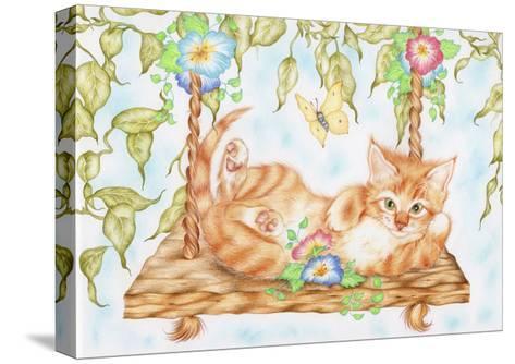 Swing Kitty-Karen Middleton-Stretched Canvas Print