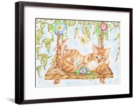 Swing Kitty-Karen Middleton-Framed Art Print