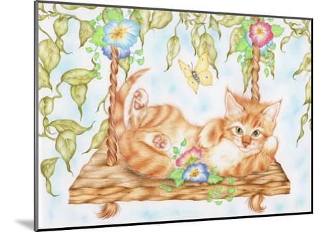 Swing Kitty-Karen Middleton-Mounted Giclee Print