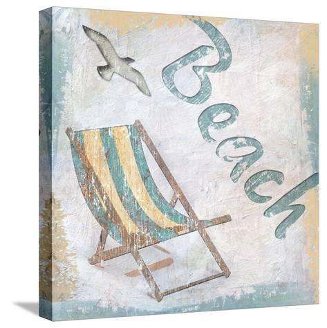 Beach 2-Karen Williams-Stretched Canvas Print