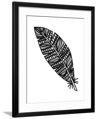 Tribal Feather-Laura Miller-Framed Art Print