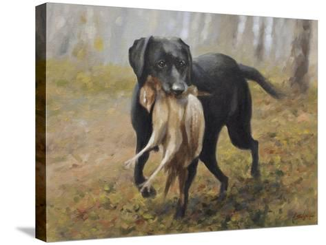 Labrador-John Silver-Stretched Canvas Print