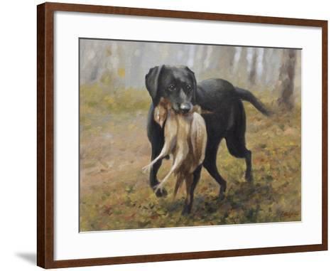 Labrador-John Silver-Framed Art Print