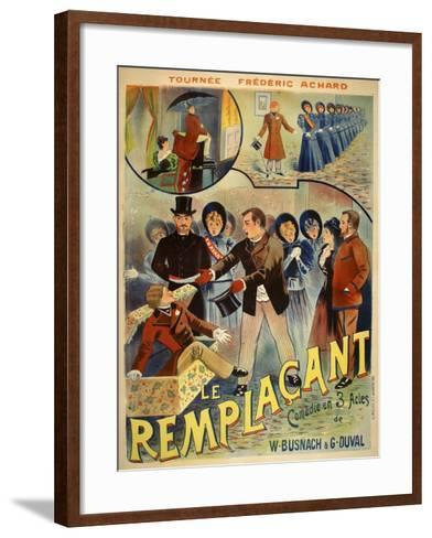 Le Remplacant-Marcus Jules-Framed Art Print
