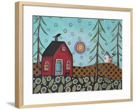Aqua Door 1-Karla Gerard-Framed Art Print