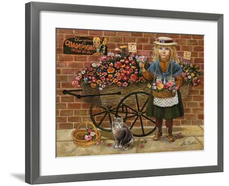Liza Flower Girl-Lee Dubin-Framed Art Print
