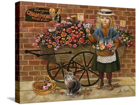 Liza Flower Girl-Lee Dubin-Stretched Canvas Print