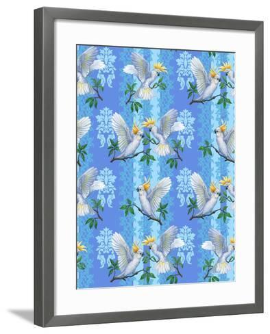 Cockatoos (Pattern)-Maria Rytova-Framed Art Print