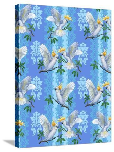 Cockatoos (Pattern)-Maria Rytova-Stretched Canvas Print