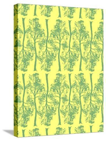 Tree Contrast-Josefina Baumann-Stretched Canvas Print