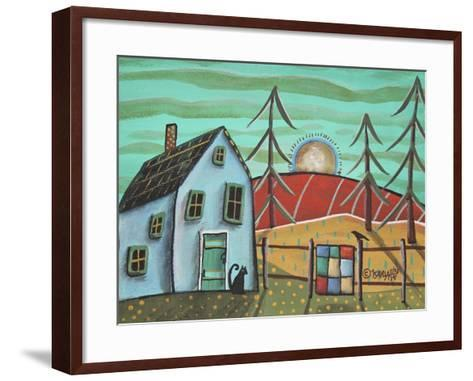 Blue House 1-Karla Gerard-Framed Art Print