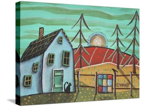 Blue House 1-Karla Gerard-Stretched Canvas Print