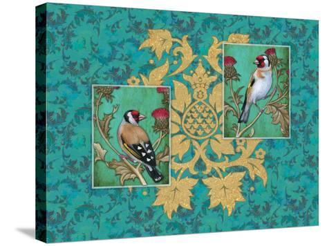Little Birds with Golden flowers-Maria Rytova-Stretched Canvas Print