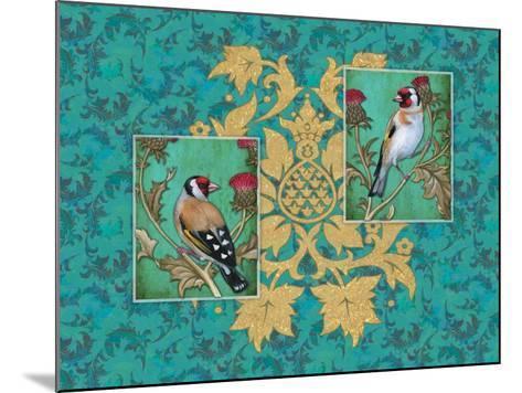 Little Birds with Golden flowers-Maria Rytova-Mounted Giclee Print