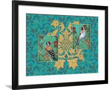 Little Birds with Golden flowers-Maria Rytova-Framed Art Print