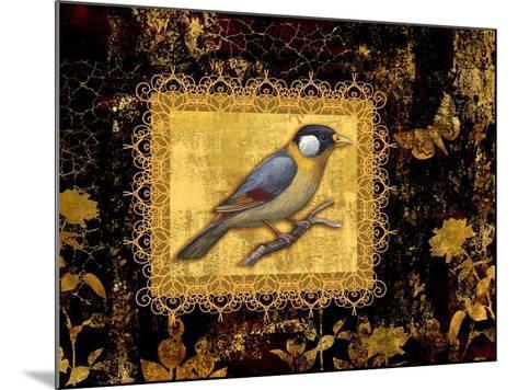 Bird on Black Background-Maria Rytova-Mounted Giclee Print