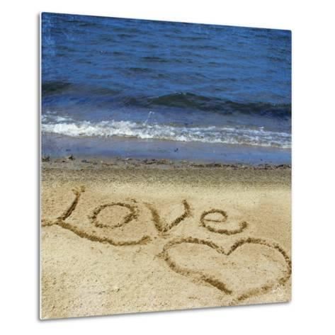 Love in the Sand-Kimberly Glover-Metal Print