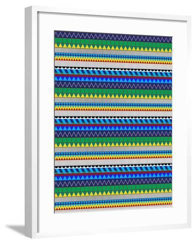 Folk 5-Josefina Baumann-Framed Art Print