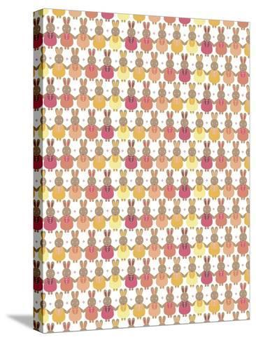 Bunnies Ombre-Josefina Baumann-Stretched Canvas Print