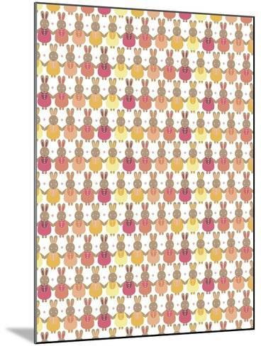 Bunnies Ombre-Josefina Baumann-Mounted Giclee Print