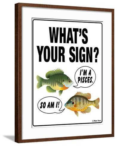 What's Your Sign-Mark Frost-Framed Art Print