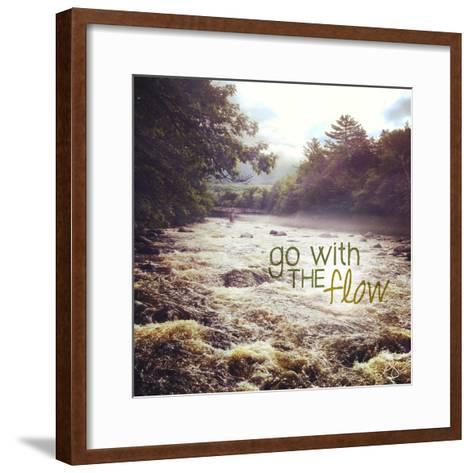 With the Flow-Kimberly Glover-Framed Art Print