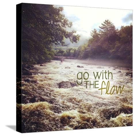 With the Flow-Kimberly Glover-Stretched Canvas Print