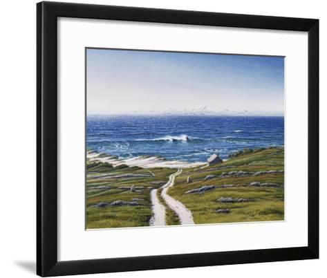 The Road to the House and the Wave-Lee Mothes-Framed Art Print