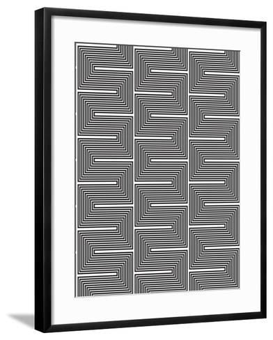 Optic Pattern-Josefina Baumann-Framed Art Print