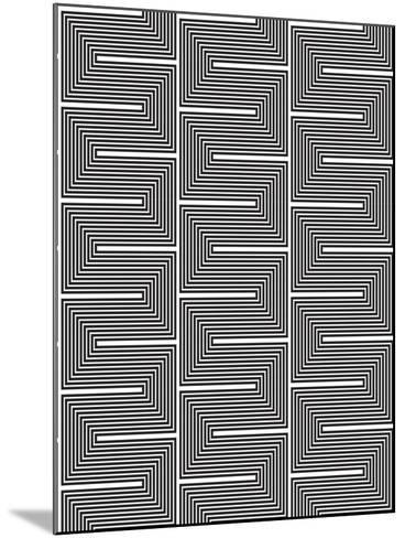 Optic Pattern-Josefina Baumann-Mounted Giclee Print