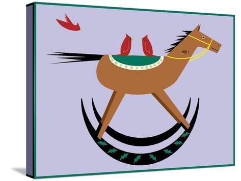 Rocking Horse-Marie Sansone-Stretched Canvas Print
