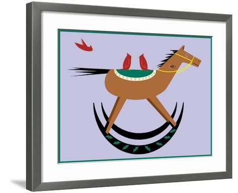 Rocking Horse-Marie Sansone-Framed Art Print