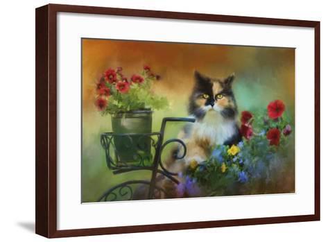 Calico in the Garden-Jai Johnson-Framed Art Print