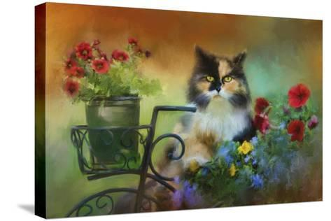 Calico in the Garden-Jai Johnson-Stretched Canvas Print