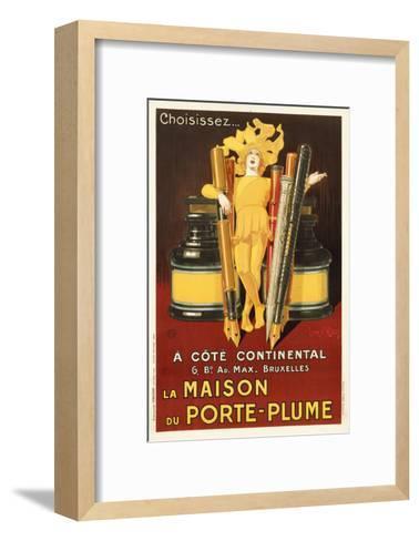 La Maison Du Porte Plume Brown-Marcus Jules-Framed Art Print