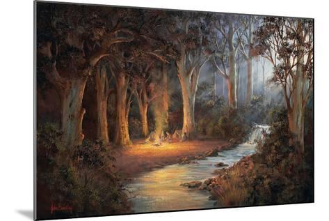 Firelight and Moonrise-John Bradley-Mounted Giclee Print