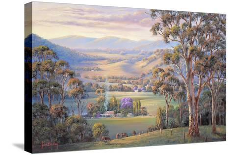 Close of Day - Vacy-John Bradley-Stretched Canvas Print