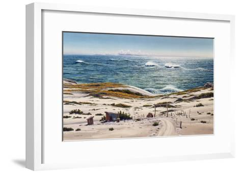 Stick Ranch and Big Waves-Lee Mothes-Framed Art Print