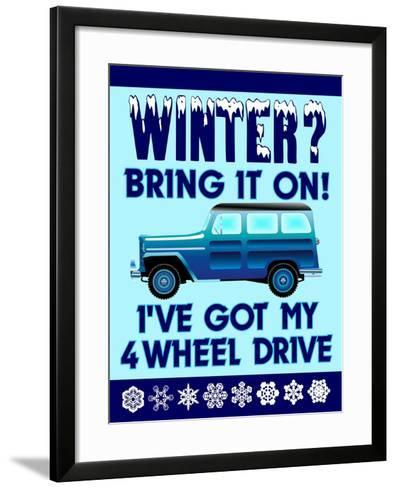 Winter Bring it 4WD-Mark Frost-Framed Art Print