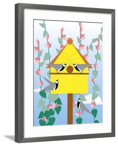 Chickadees 2-Marie Sansone-Framed Art Print