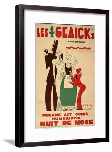 Les 4 Geaick s-Marcus Jules-Framed Art Print