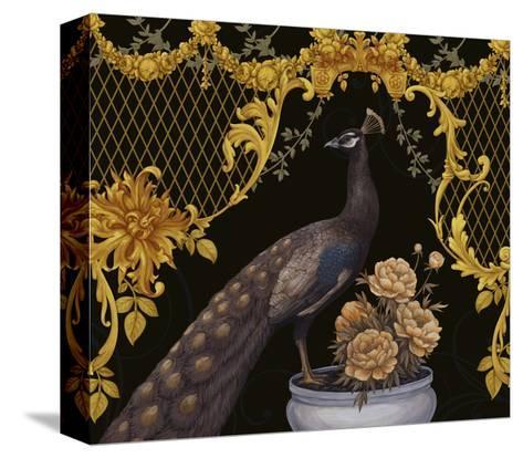 Black Peacock-Maria Rytova-Stretched Canvas Print