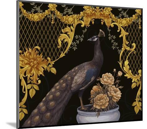 Black Peacock-Maria Rytova-Mounted Giclee Print