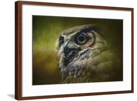 Great Horned Owl in the Grove-Jai Johnson-Framed Art Print
