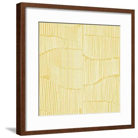 The Spaces Between Perfect Tile Yellow-Kavan & Company-Framed Art Print