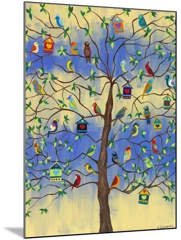 Bird and Bird Houses on Tree-Kerri Ambrosino-Mounted Giclee Print